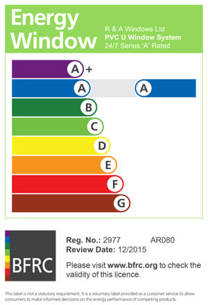 A-Rated energy window rating