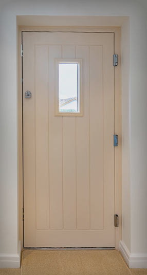 Internal view of a Composite Door with a cream finish