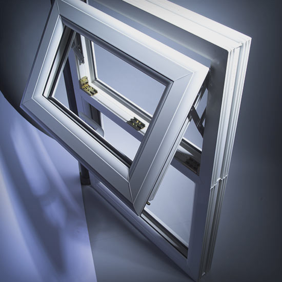 New example of triple glazed white window frame